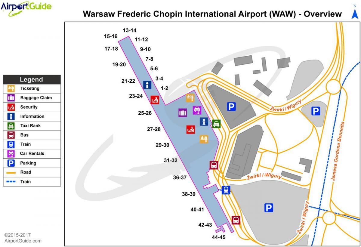 Aeroporto Waw : Aeroporto di varsavia mappa varsavia waw aeroporto mappa masovia